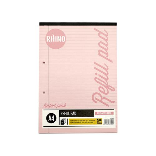 RHINO A4 Special Refill Pad 50 Leaf, Pink Tinted Paper, F8M (Pack 6)