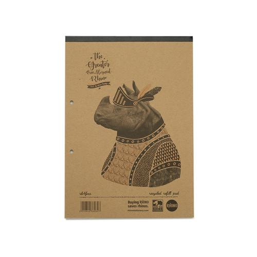 Save The Rhino Recycled Headbound Refill Pad A4 (Pack 5) RH4FMR