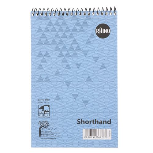 RHINO 200 x 127 Shorthand Notepad 80 Leaf, F8