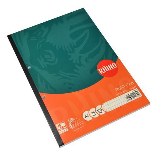 RHINO A4 Refill Pad 80 Leaf, F6M (Pack 6)
