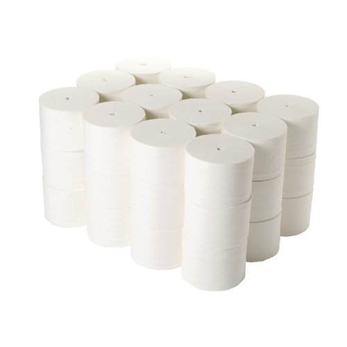 2Work Micro Twin Coreless Toilet Rolls 800 Sheets (Pack of 36) TWH900