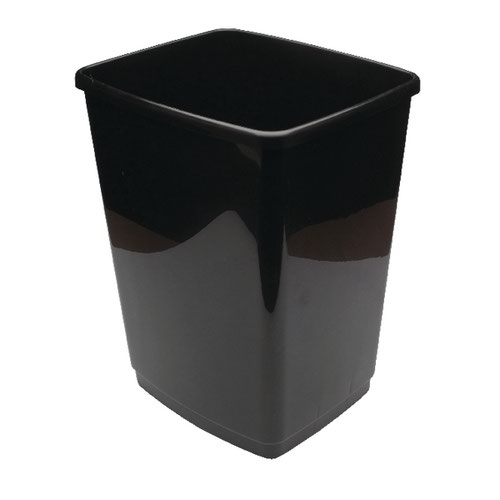 2Work Swing Bin Base Only 30 Litre Plastic Black 2W02383