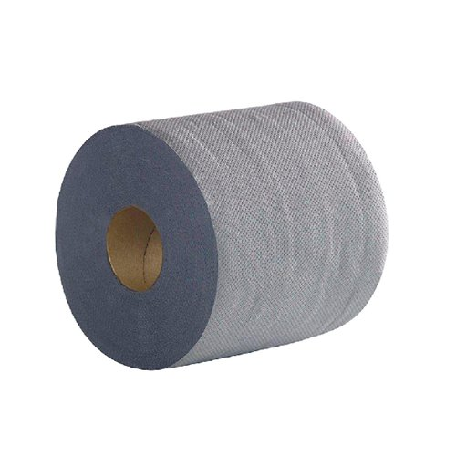 2Work 2-Ply Centrefeed Roll 100m Blue (Pack of 6) 2W03010 2W03010