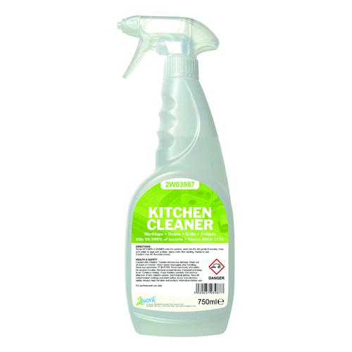 2Work Kitchen Cleaner Degreaser and Sanitiser 750ml 219