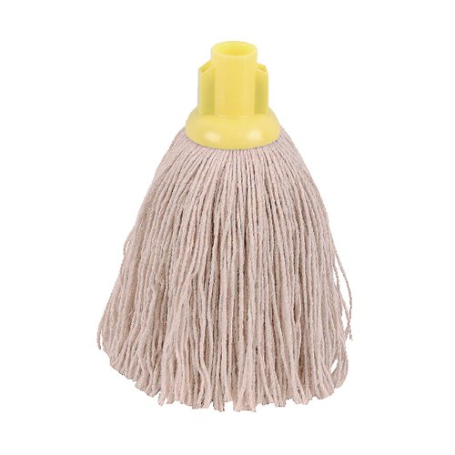2Work Twine Rough Socket Mop 12oz Yellow (Pack of 10) 101851Y