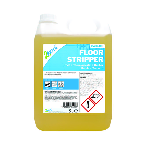2Work Floor Stripper Non-Rinse Formula 5 Litre Bulk Bottle 2W04498