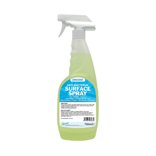 2Work Antibacterial Surface Spray 750ml (Pack of 6) 242 PACK