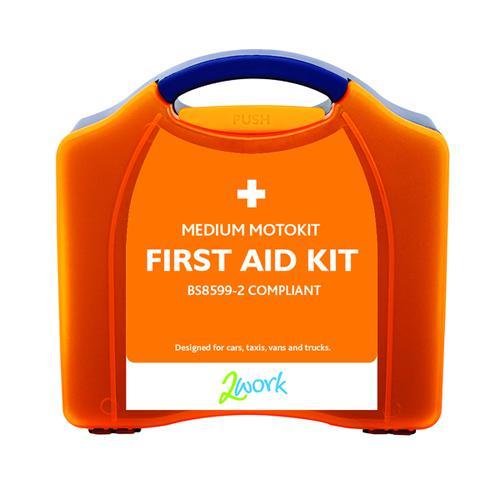 2Work Motokit Portable Vehicle First Aid Box Medium B28599-2 X6070