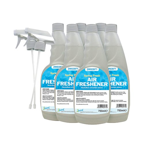 2Work Air Freshener Trigger 750ml (Pack of 6) 812