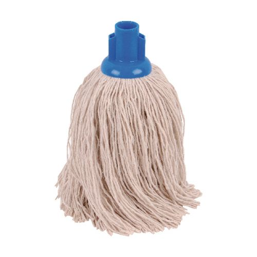 2Work 14oz Twine Rough Socket Mop Blue (Pack of 10) PJTB1410I