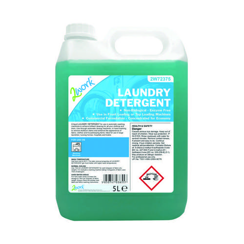 2Work Liquid Laundry Detergent for Auto-Dosing Machines 5 Litre 2W72375