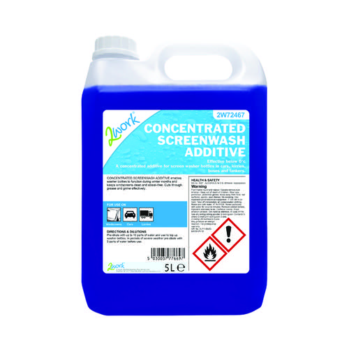2Work Screen Wash Additive Concentrate Formula 5 Litre 2W72467