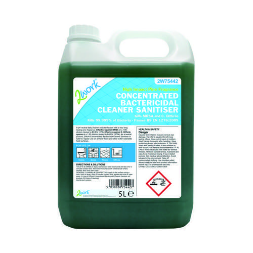 2Work Concentrated Bactericidal Cleaner Sanitiser 5 Litre 2W75442