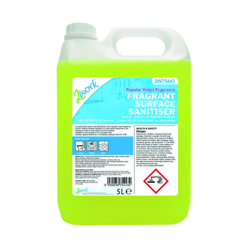 2Work Fragrant Surface Sanitiser 5 Litre 2W75443