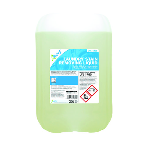 2Work Laundry Stain Removing Liquid 20 Litre 2W75996
