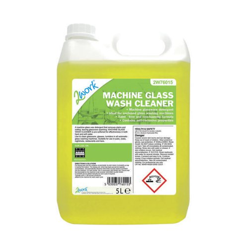 2Work Glass Wash Machine Cleaner 5 Litre Bulk Bottle 328