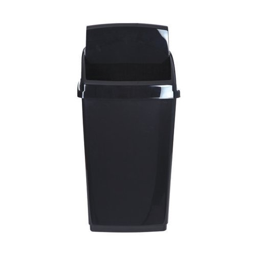 2Work Swing Top Bin 30 Litre Capacity Black 2W810011