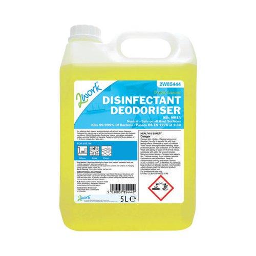 2Work Bactericidal Disinfectant Deodoriser Lemon Scent 5 Litre202