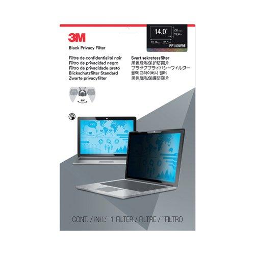 3M PF140W9E Widescreen Edge to Edge 14.0 inch Privacy Filter