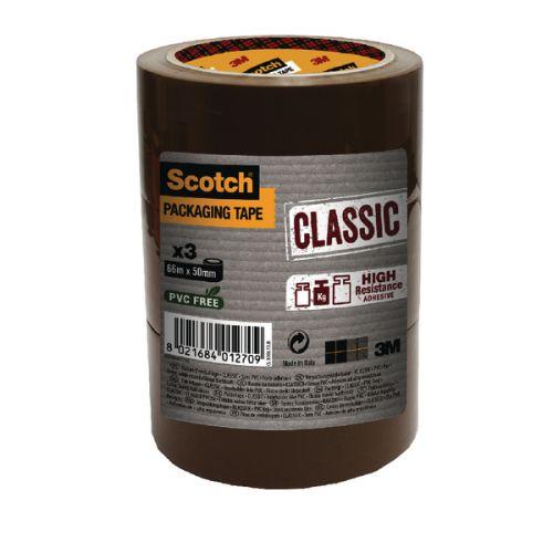 Scotch Classic Packaging Tape 50mmx50m Brown CL.5050.T3.B