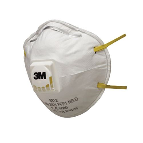 3M Cup Shaped Valved Respirator FFP1 8812 Pack of 2 XA004838034
