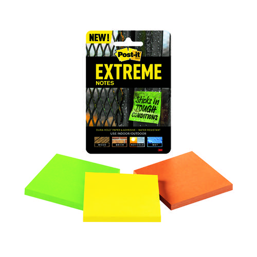 Post-it Notes Extreme 76 x 76mm Assorted (Pack of 3) EXT33M-3-UKSP