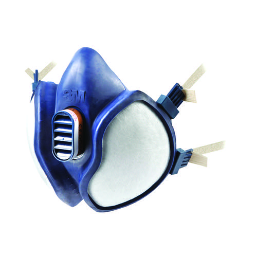 3M Reusable Respirator PPE Half Mask Lightweight Blue 4251