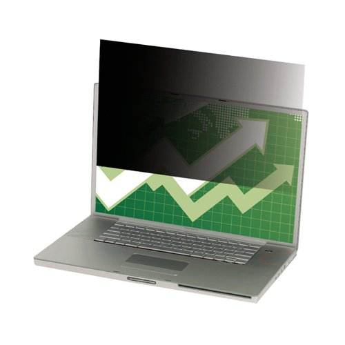 3M Black Privacy Filter For Laptops 14.1in Widescreen 16:10 PF14.1W
