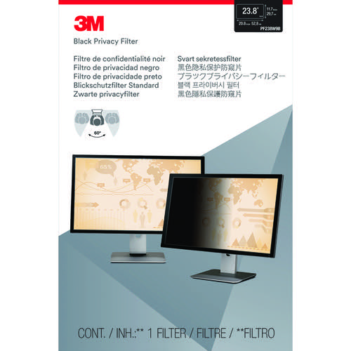 3M Privacy Filter for Widescreen Desktop LCD Monitor 23.8in PF238W9B
