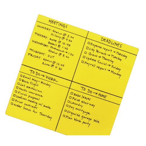 Post-it Super Sticky Yellow Big Notes 558 x 558mm Pack of 30 BN22-EU