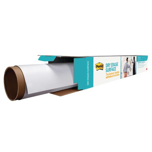 Post-it Super Sticky Dry Erase Film Roll 15024x1021mm White DEF50X4-EU