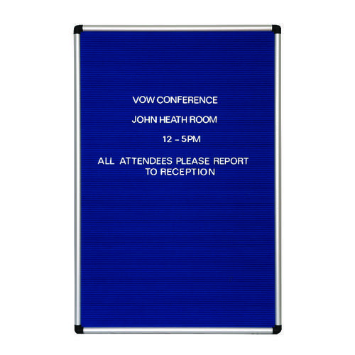 Announce Groove Letter Board Wall Mount Blue 1/SR-9060/P/SS/GU/PS 19MM