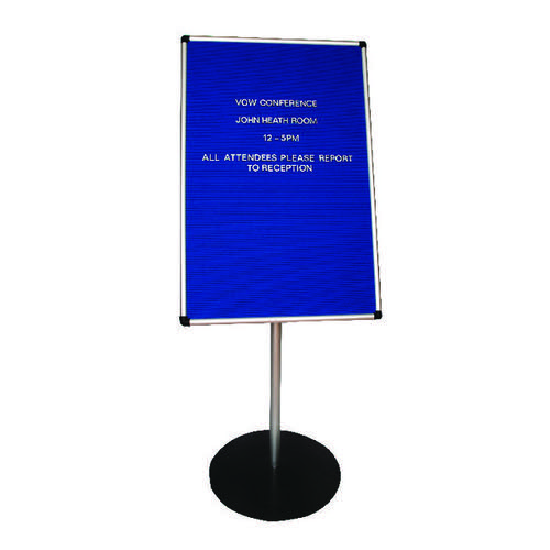 Announce Groove Letter Board with 1100mm Stand 900x600mm AA847001
