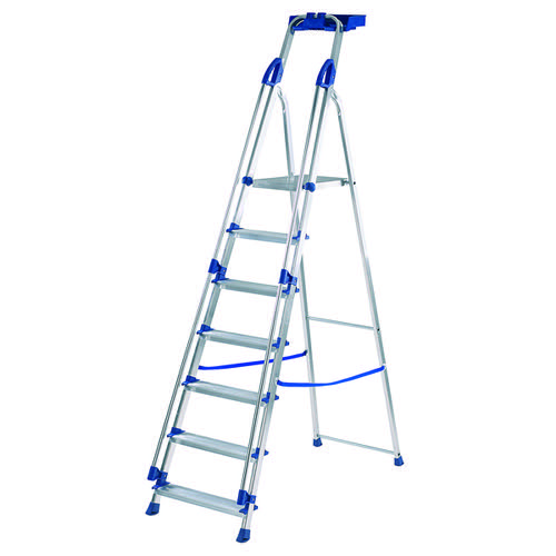 Werner Blue Seal 7 Tread Professional Aluminium Step Ladder 7050718