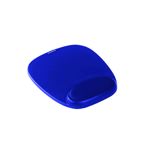 Kensington Foam Mouse Pad with Cushioned Wrist Support Blue 64271