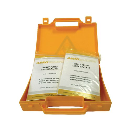 Body Fluid Spillage Kit for Safe Disposal Yellow Case 20217-9