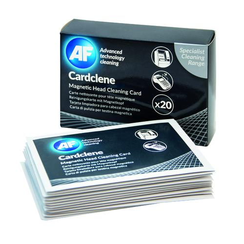 AF Cardclene ATM/POS Magnetic Head Cleaning Cards (Pack of 20) CCP020