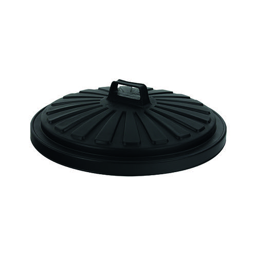 Addis Dustbin Lid Round 90 Litre Black 0766MOB