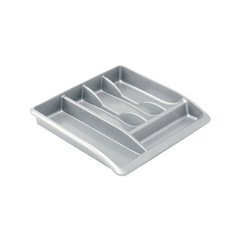 Addis Cutlery Tray Metallic Grey 510855