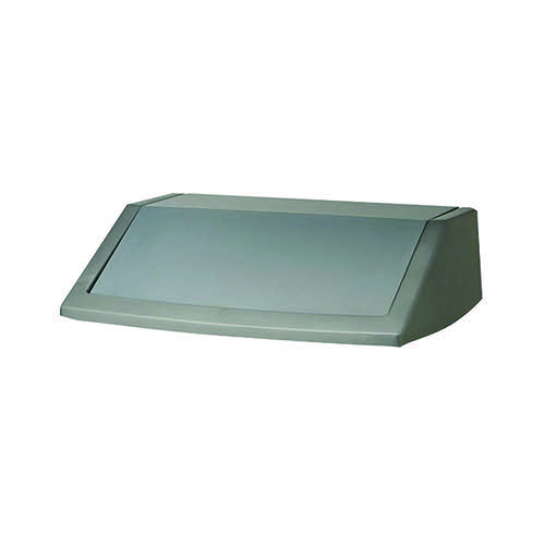 Addis 60 Litre Flip Top Bin Lid Metallic Grey 504895