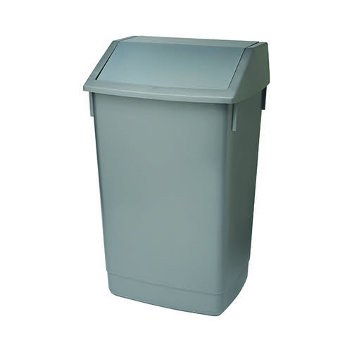 Addis Fliptop Bin 60 Litre Metallic Grey (Heavy duty commerical quality) AG813418