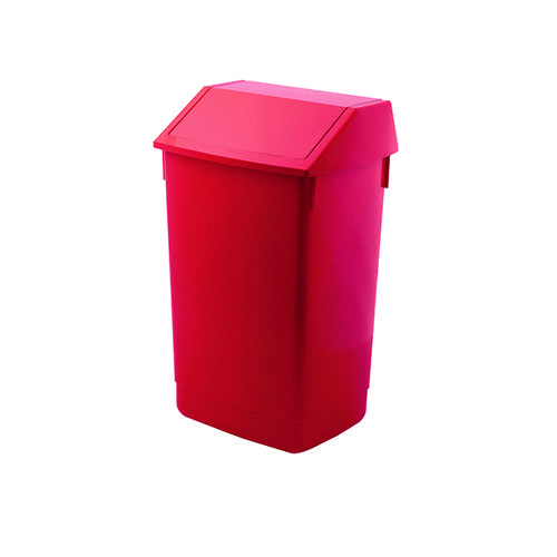 Addis Fliptop Bin 60 Litre Red AG813421