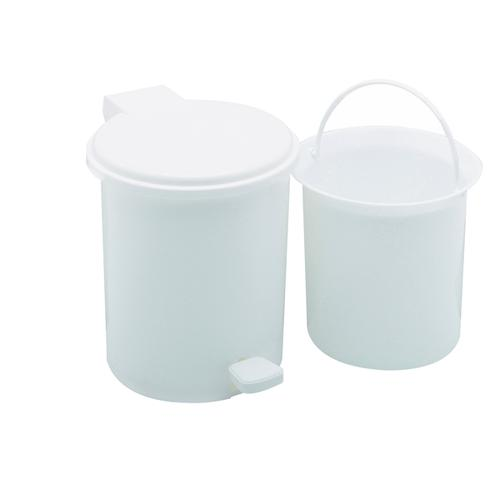 Addis Foot Pedal Vanity Bin 2.9 Litre White (Foot pedal for hygienic hands-free operation) 9872