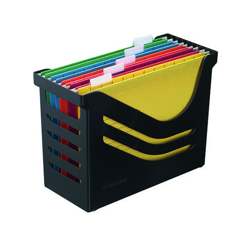 Jalema Recycled Office Box with 5 Suspension Files A4 Black A658026998