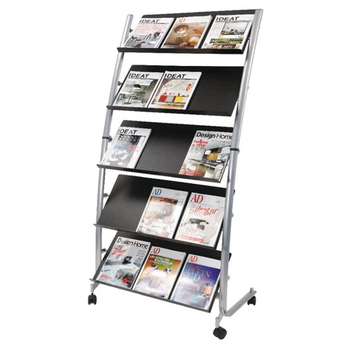 Alba 5 Shelf Mobile Literature Display Stand 3 x A4 DD5GM