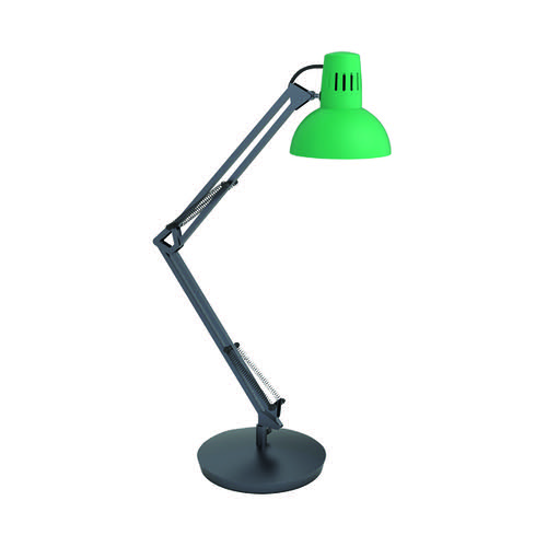 Alba Architect LED Desk Lamp Green (Flexible at base arm and head) ARCHICOLOR V1