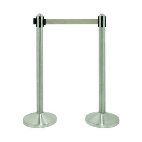 Economy Flexibarrier Stand Chrome VERC3BU