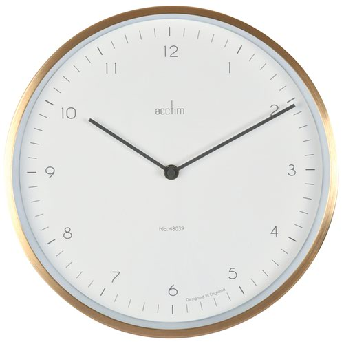 Acctim Bronx 30cm Wall Clock Brass 29458