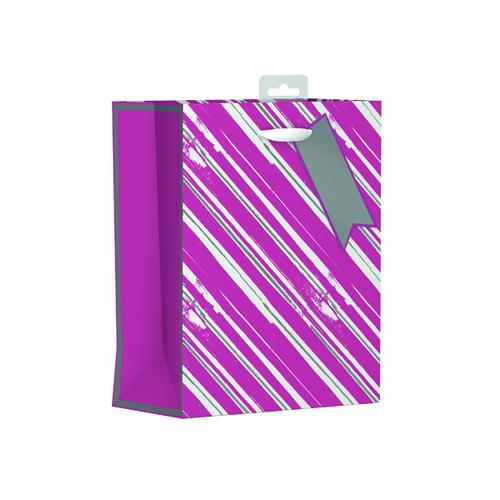 Giftmaker Vertical Stripe Gift Bag Medium (Pack of 6) FCSM