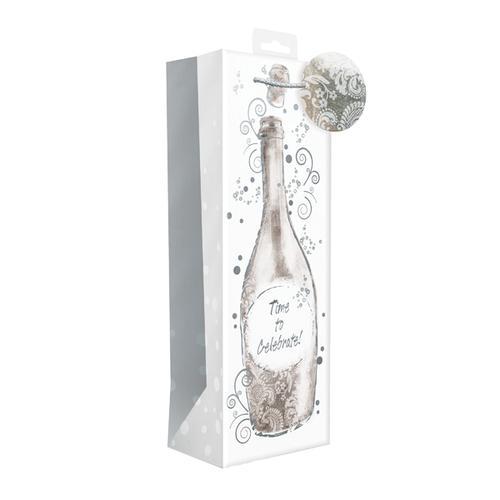 Giftmaker Time to Celebrate Champagne Bottle Bag (Pack of 6) BOLB